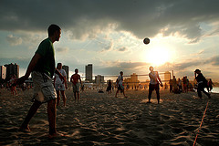Volleyball - sunset